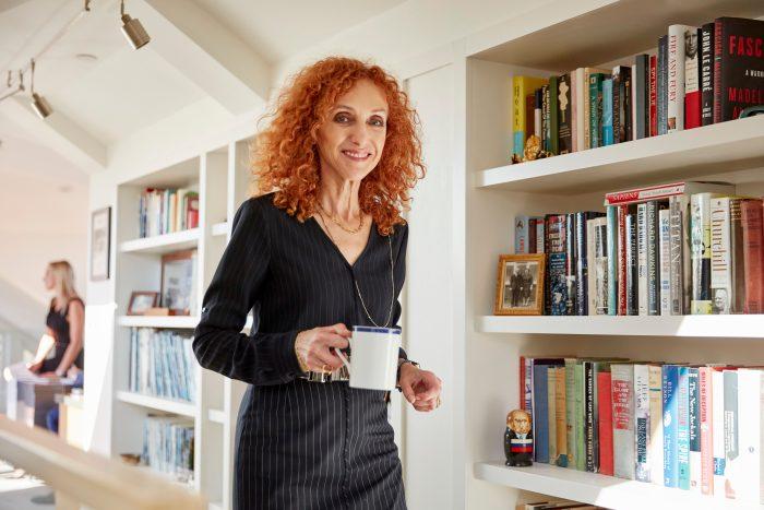 Nina Hatvany with coffee