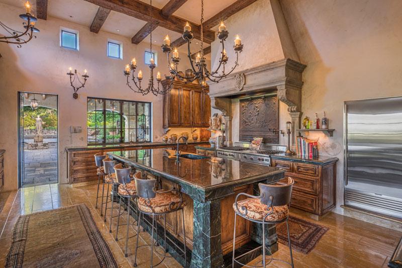 Kitchen Tuscan Mansion