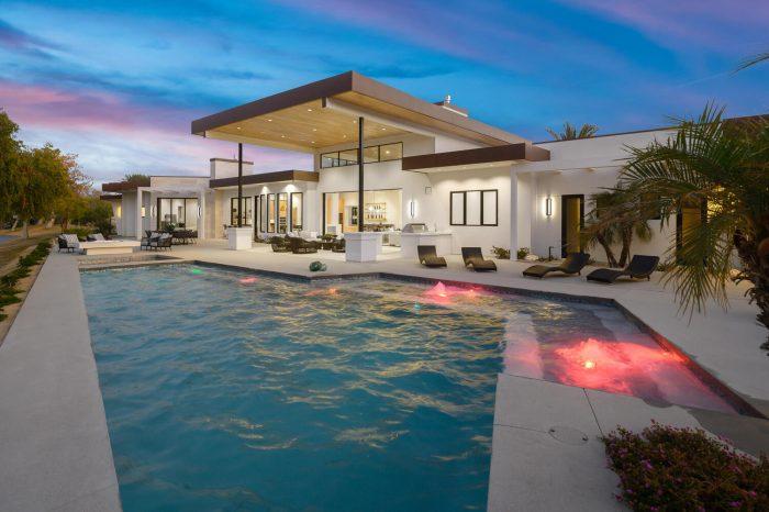Palm Springs pool home.