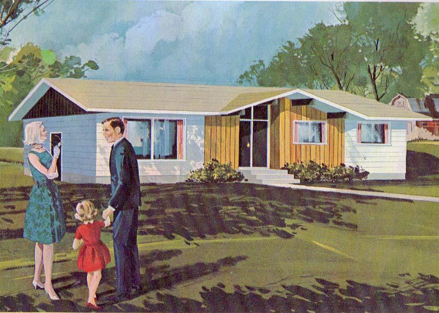 1960s model home