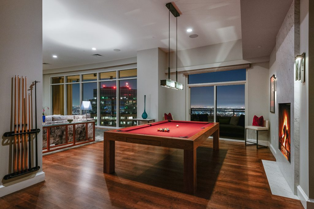 Home of the Week: Matthew Perry's astonishing LA sky palace pool table