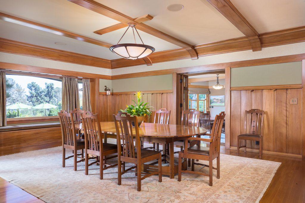 Historic mansion in Pasadena dining room