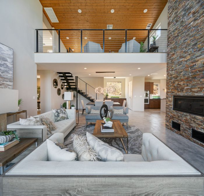 Interior of high end loft.