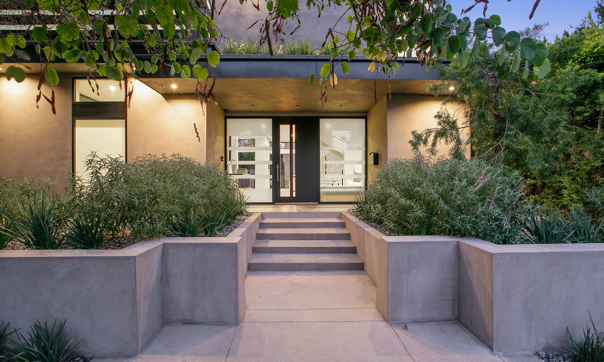 West Hollywood home entry