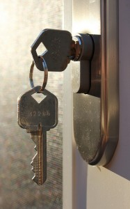 Key in door