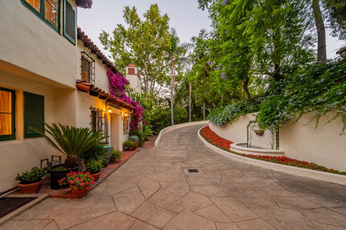 driveway for Spanish home