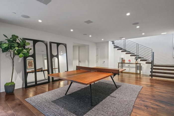 beautiful wood ping pong table