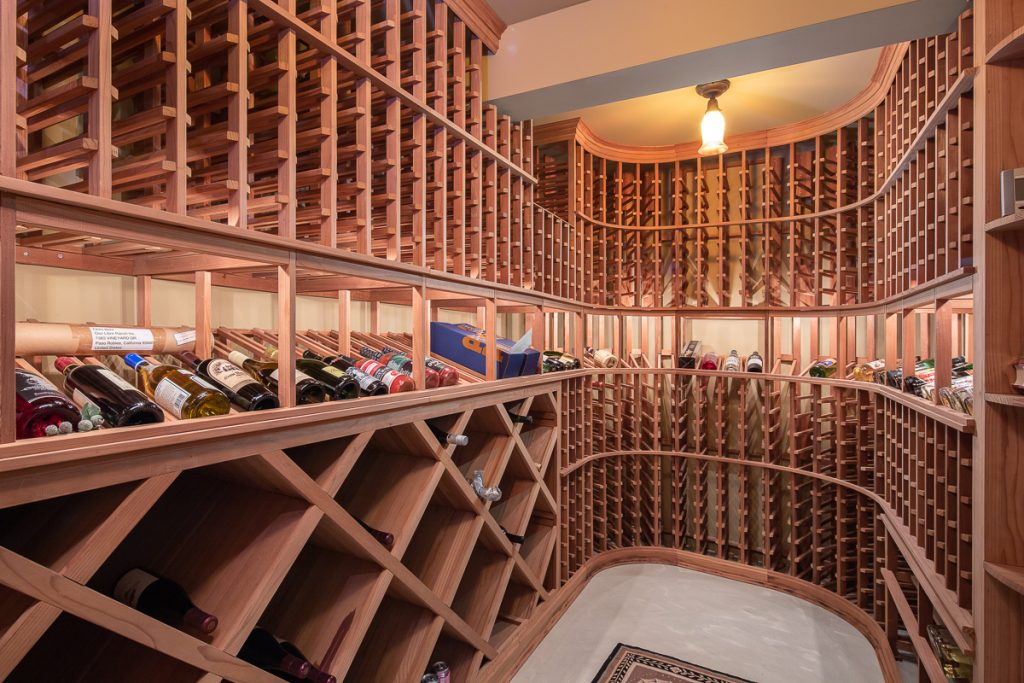 Historic mansion in Pasadena wine cellar