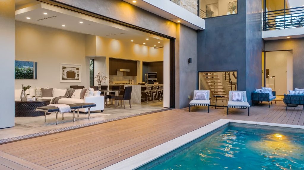 Showing Beverly Grove home indoor outdoor living room