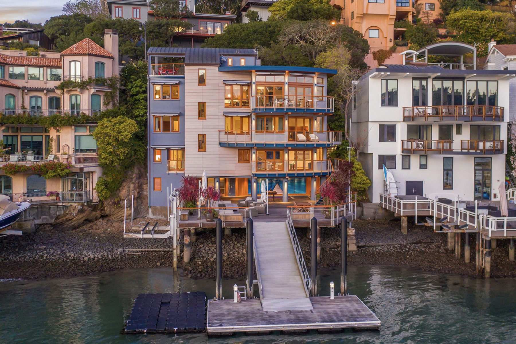Belvedere water front home compass real estate