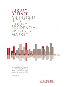 Christie's luxury real estate report cover