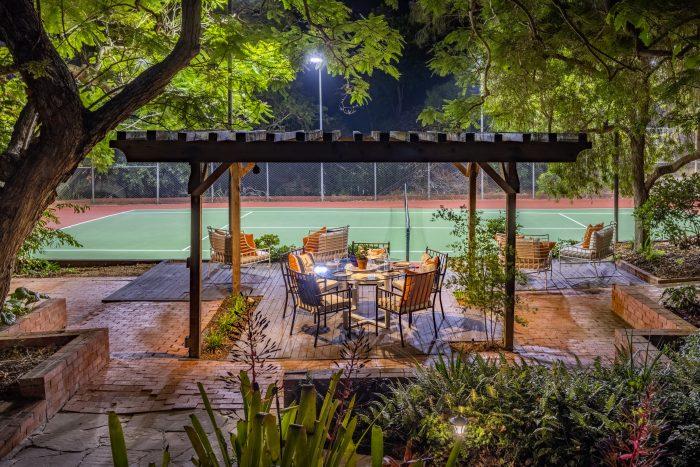 California Real Estate Blog - La Playa Estate Tennis Court
