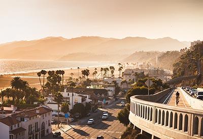 Aerial shot of California coast
