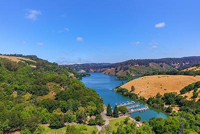Lake Chabot as seen from Castro Valley