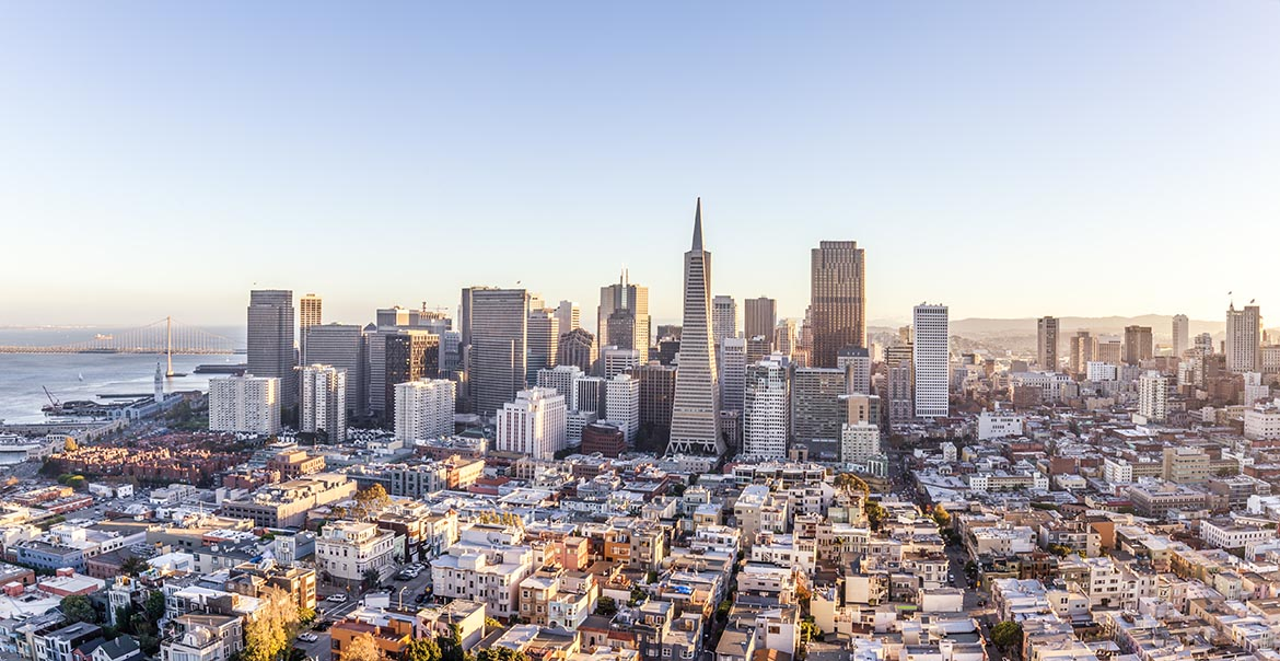 cityscape of San Francisco and skyline