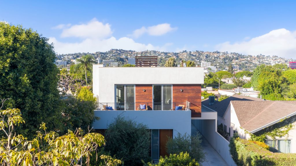 Architectural dream with Hollywood Hills view