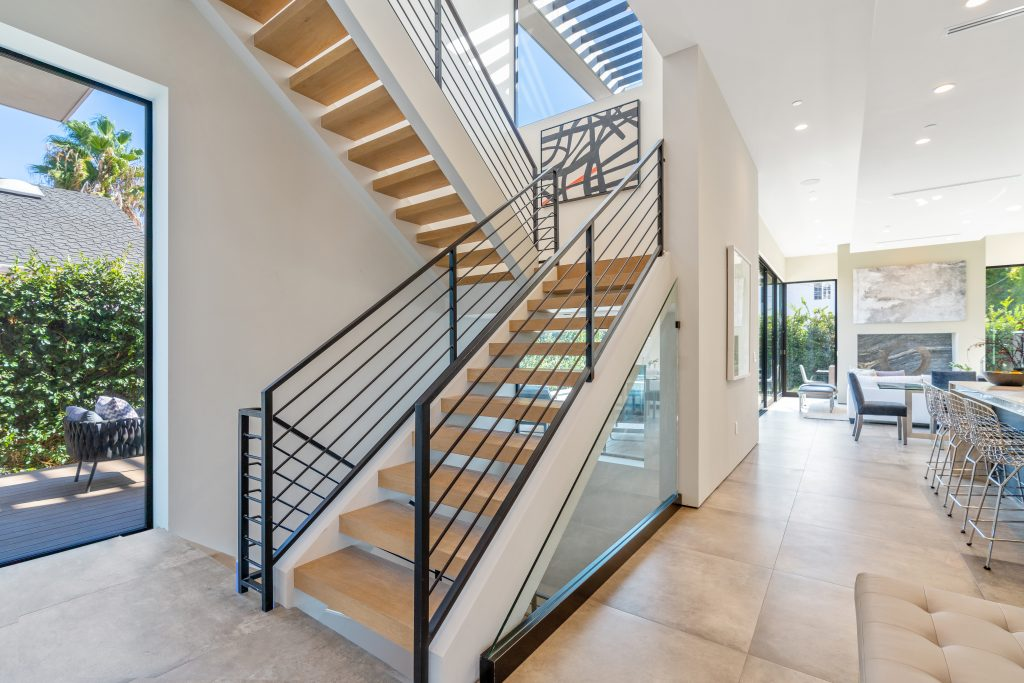 Showing Beverly Grove home airy stair case