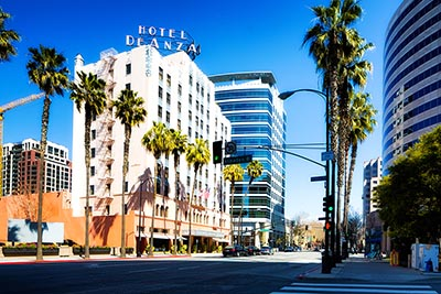 A street scene in Downtown San Jose, California