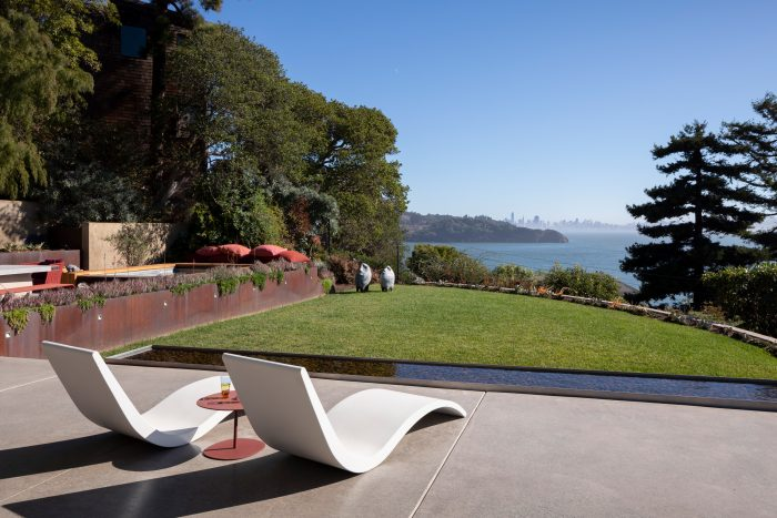 Lawn and view of San Francisco.