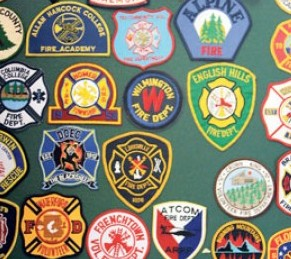 Napa Valley Firefighter Museum Collection of Patches