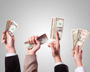 Fistfuls of money