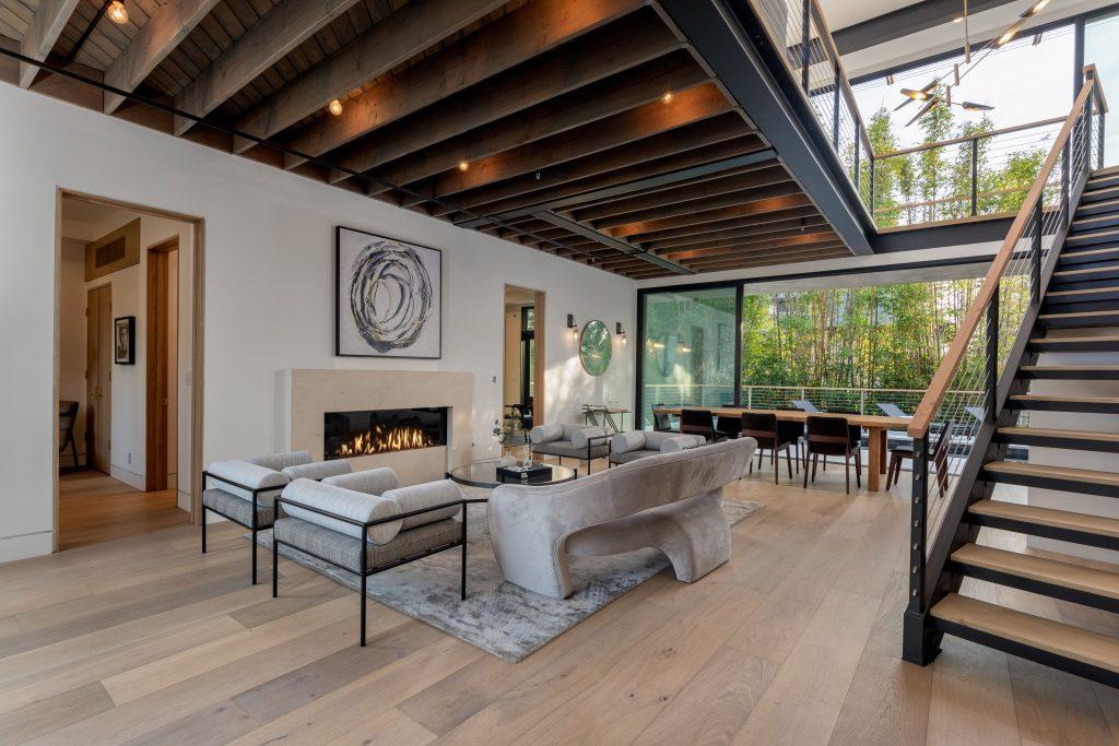 living room napa home