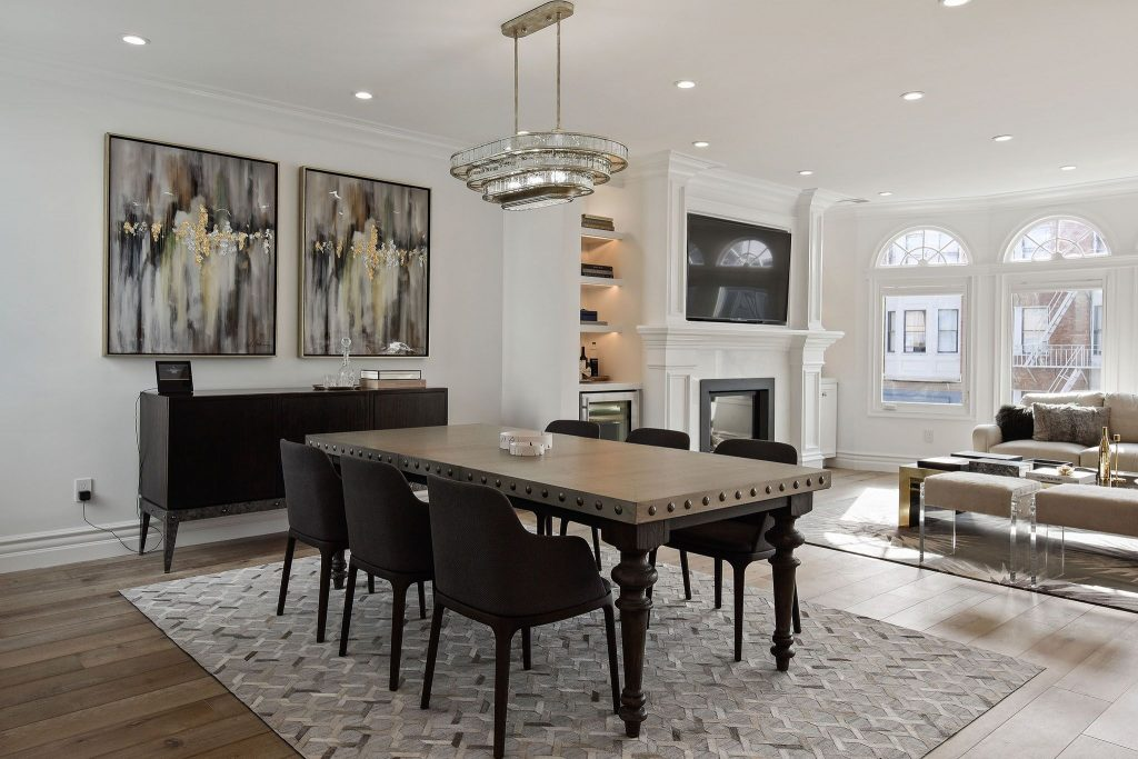 Showing dining room table