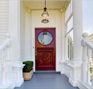 Doorway of a high-end home in San Francisco.