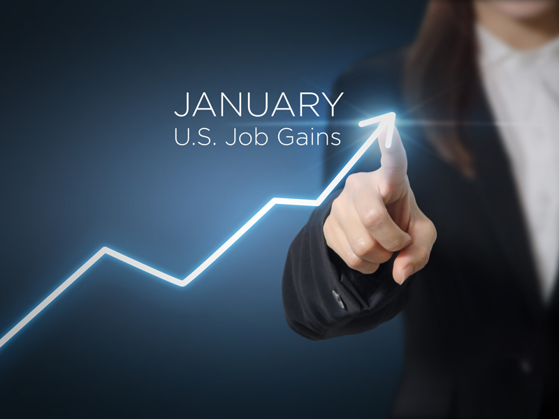 January job gains graph