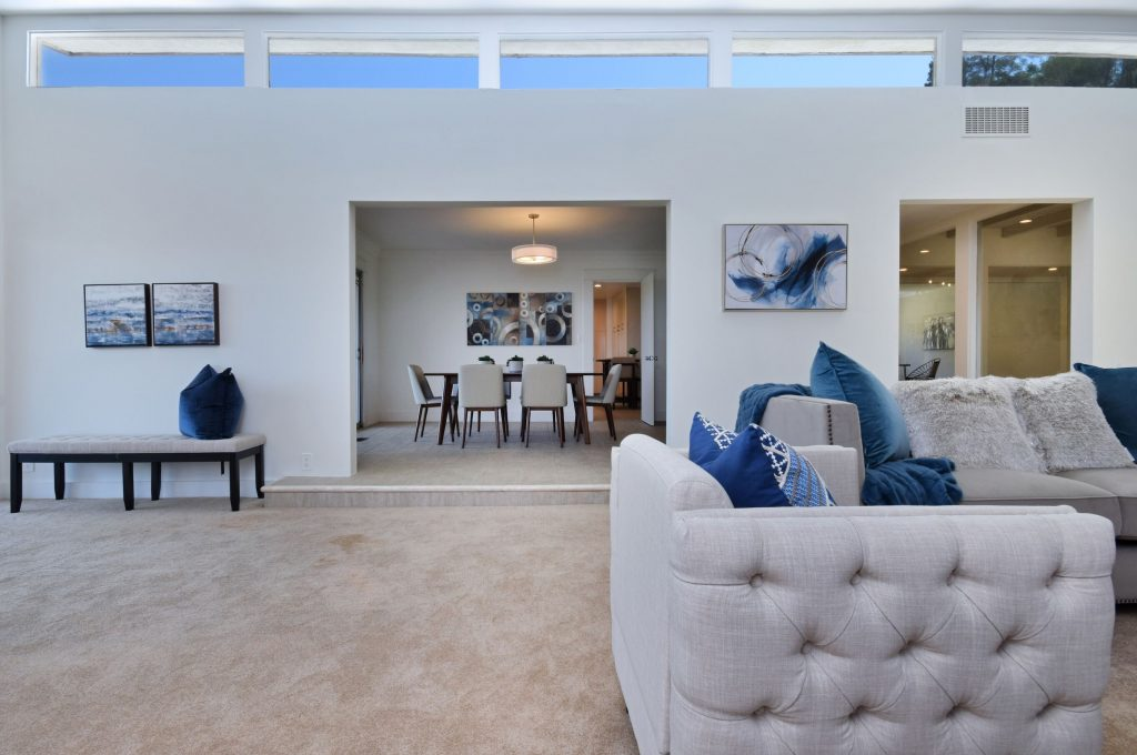 Exhilarating views from the Sherman Oaks hills dining room and living room