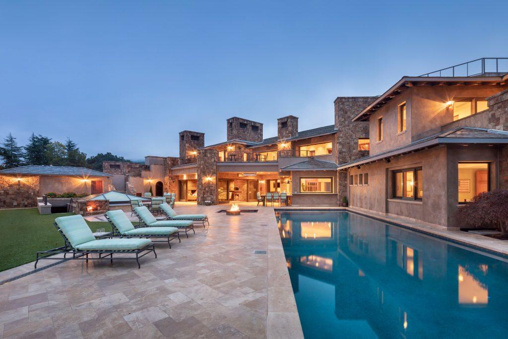 backyard of estate with pool