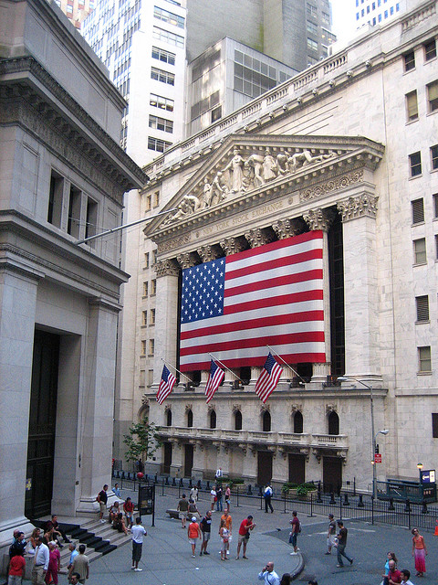 Photo of the New York Stock Exchange and the early home of JPMorgan Chase.