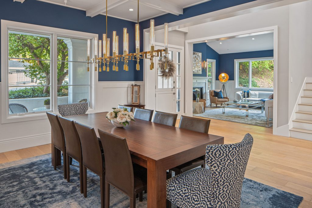 Dining room with view into living room