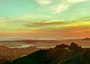 A stunning view from the Oakland Hills.