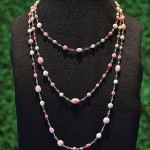 Queen Conch Pearl and Diamond Necklace