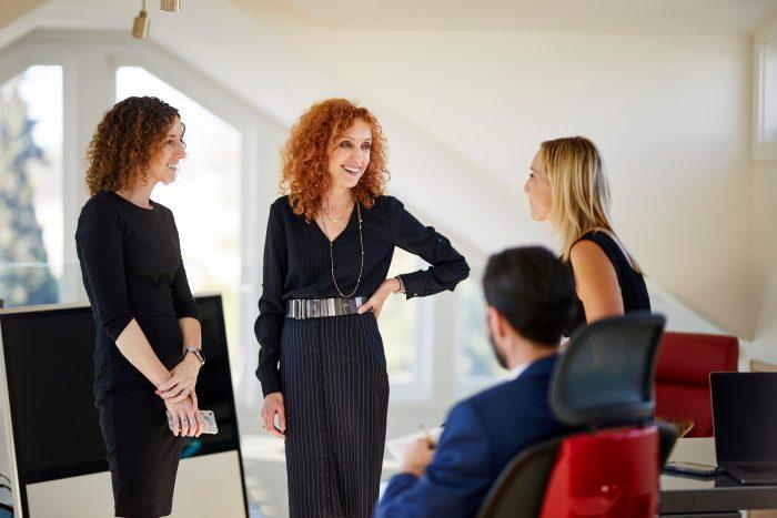 Nina Hatvany with colleagues