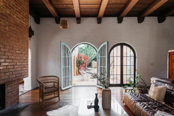 Beautiful adobe living room.
