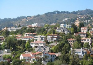 View of Oakland's Rockridge neighborhood