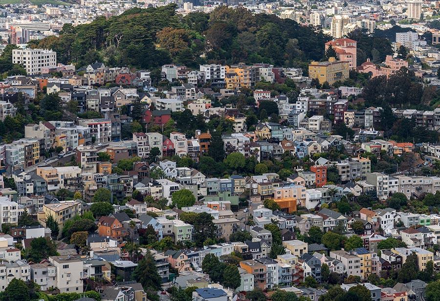 San Francisco residential neighborhood cityscape