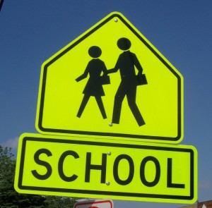 School-zone sign