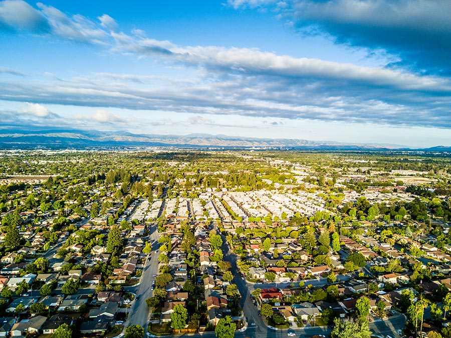 Drone View Silicon Valley