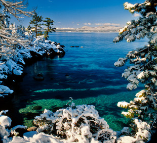 Lake Tahoe Scenic Winter Frame