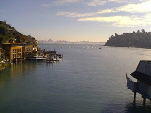 The Marin town of Tiburon