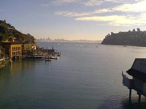 The Marin town of Tiburon