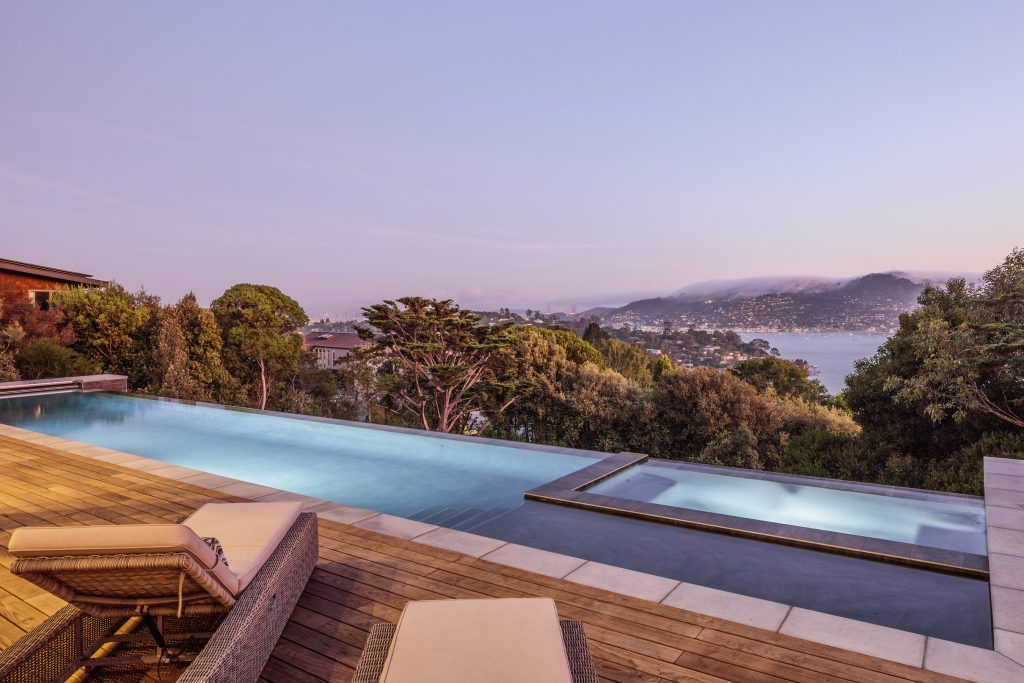 Tiburon architecture as art overlooking the Bay