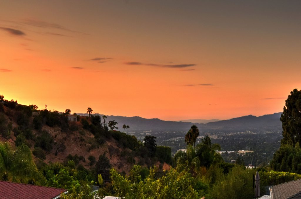 Exhilarating views from the Sherman Oaks hills sunset