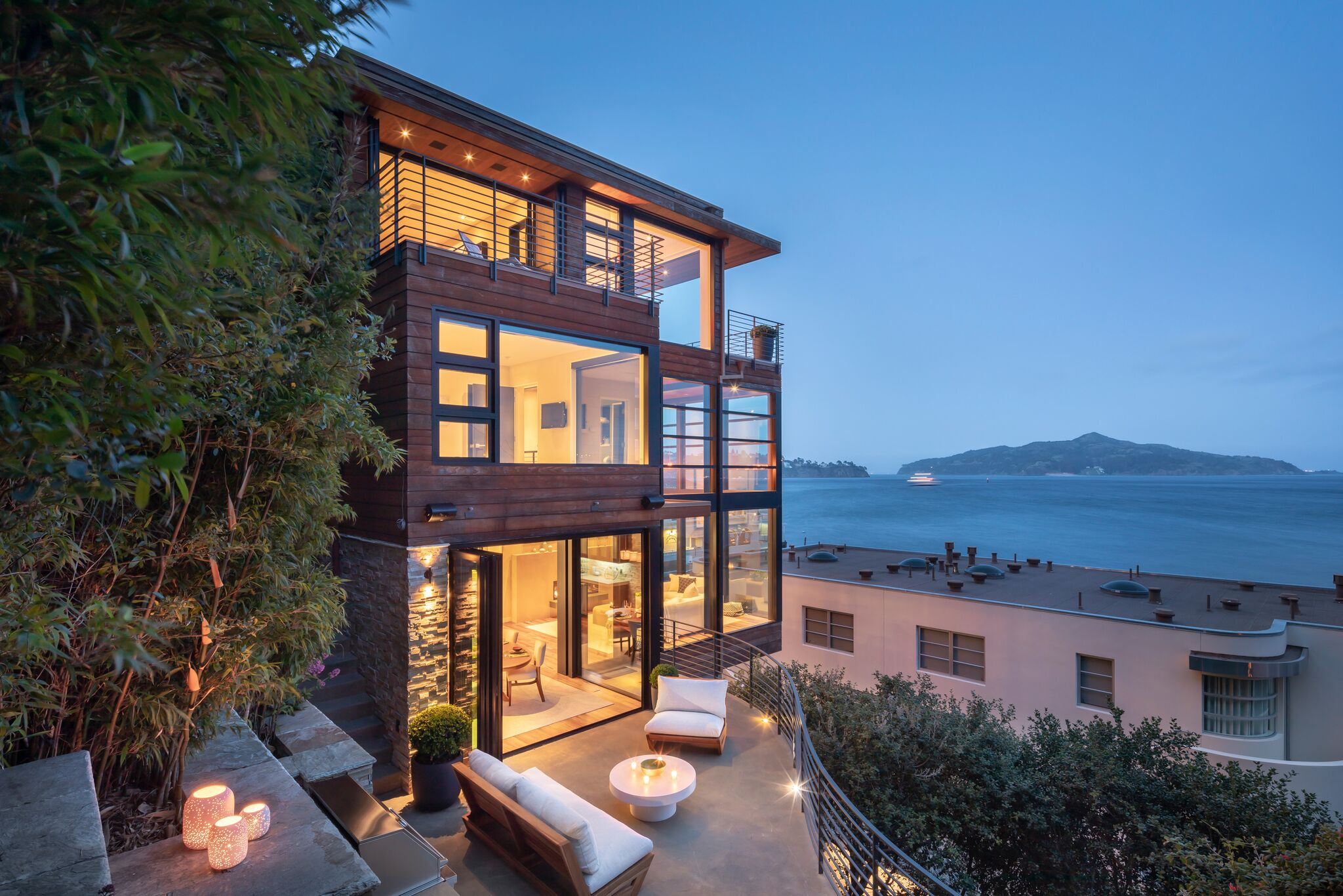 Sausalito architectural gem wrapped in sweeping Bay views