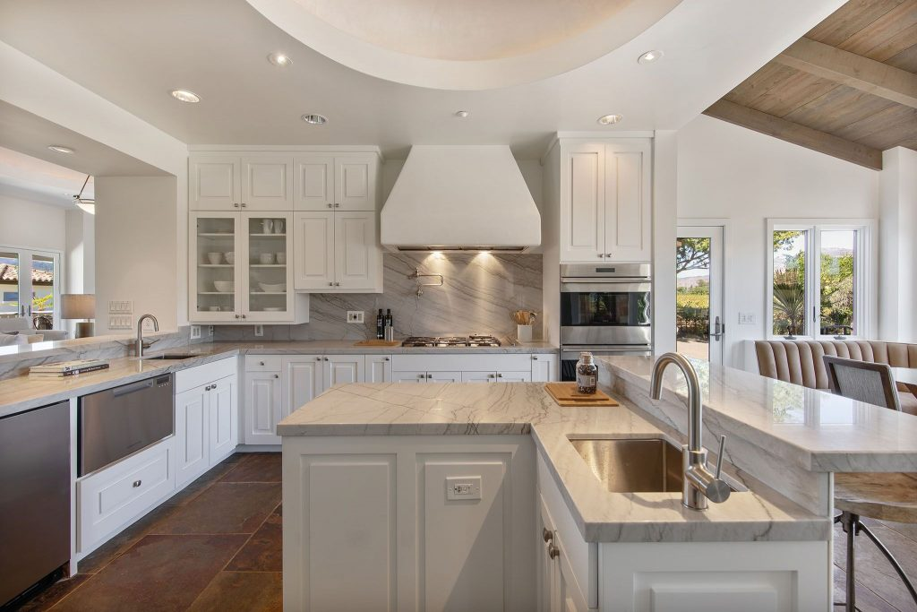 kitchen in napa home