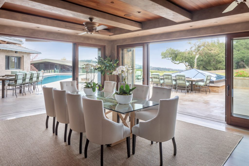 indoor outdoor dining room