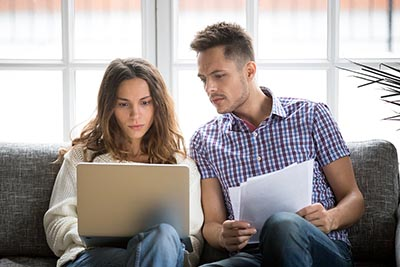 Millennial couple worried about finances